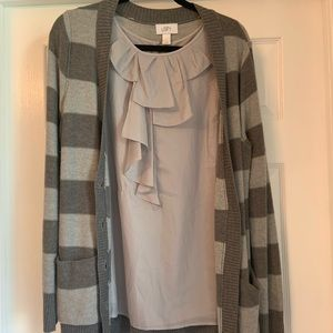 Blouse and cardigan set